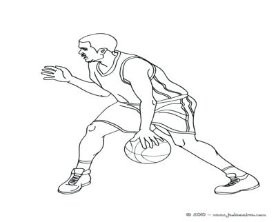 400x322 Wall Decal Awesome Drawings Outline Sketch Coloring Page Of Lebron