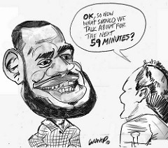 240x212 Lebron James Caricature Sketch By Grant Grant Pominville
