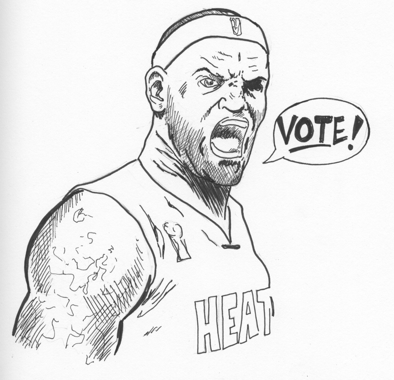 Lebron James Dunk Drawing at GetDrawings | Free download