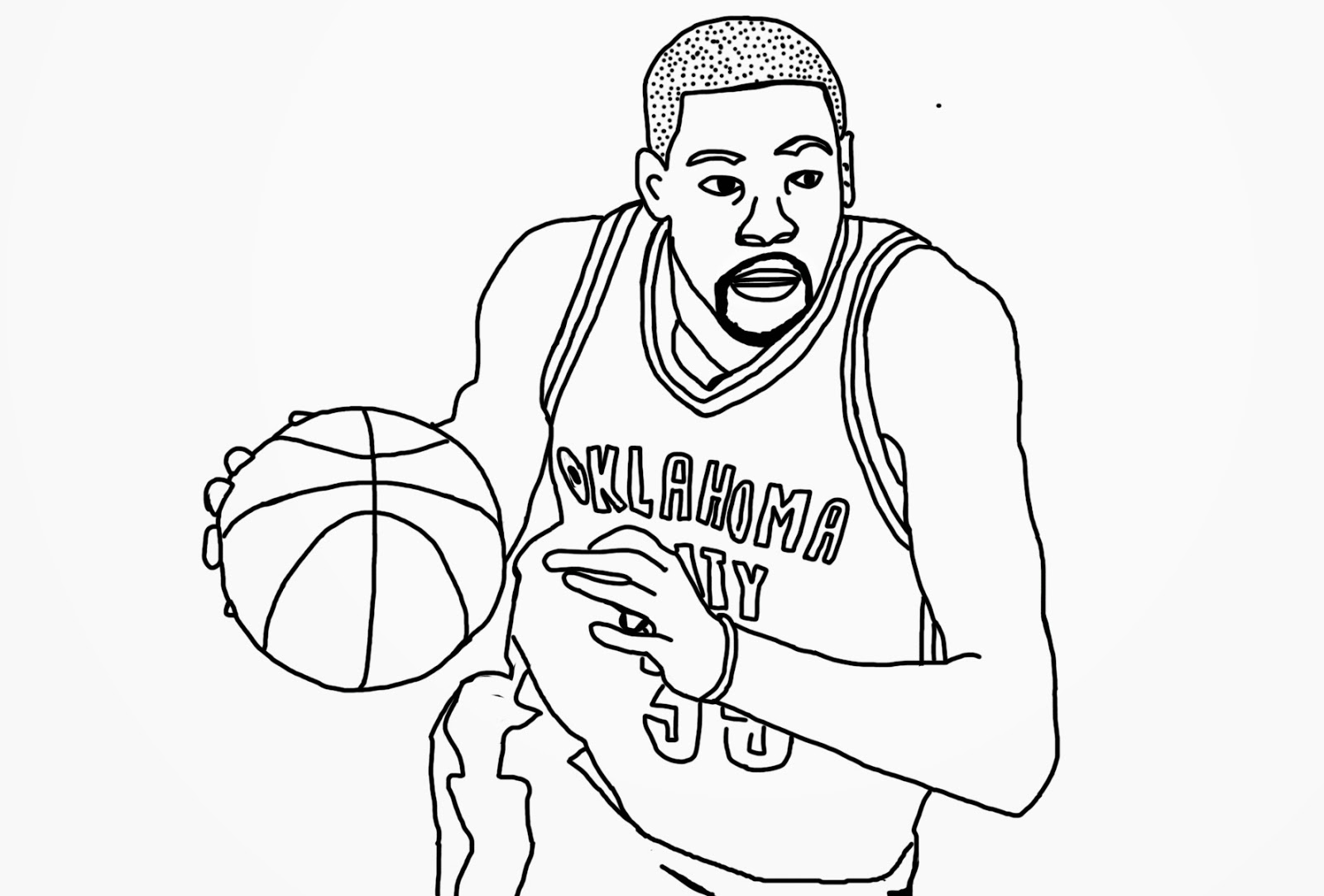 1600x1083 Russell Westbrook Coloring Pages