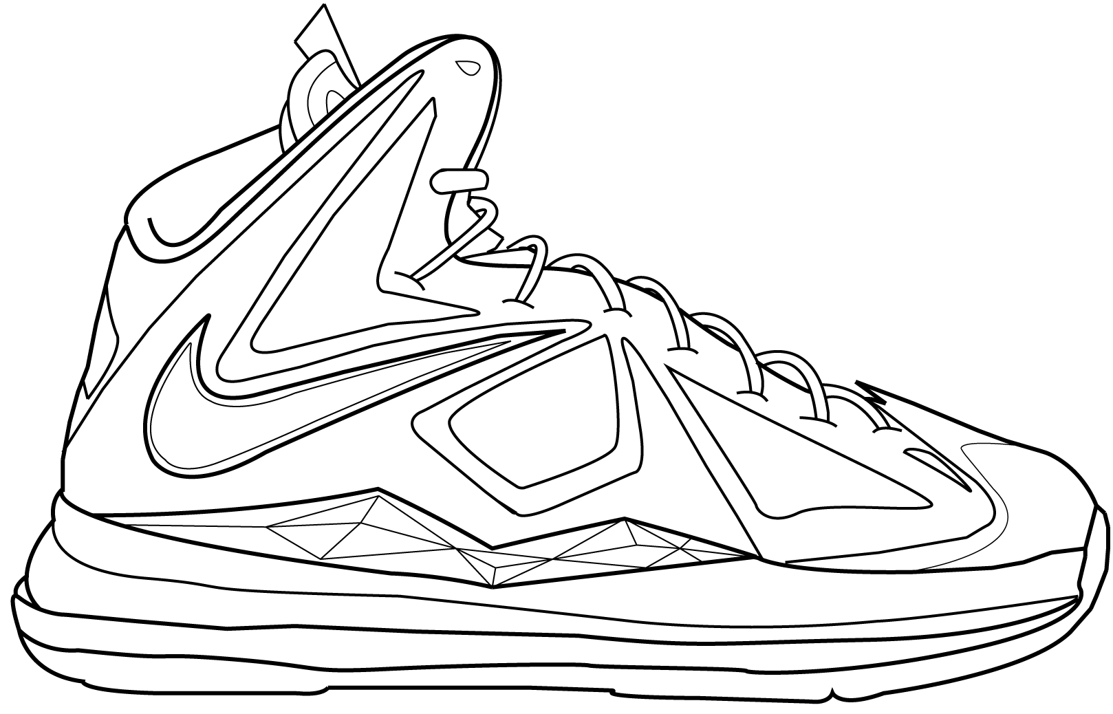 Lebron james shoes drawing at getdrawings free for personal 1618x1038 drawing lebron james shoes maxwellsz