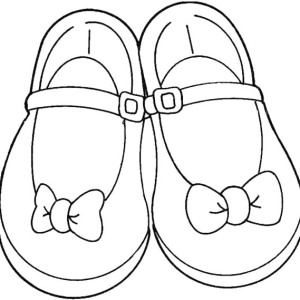 300x300 Pair Of Shoes Coloring Page Coloring Sky