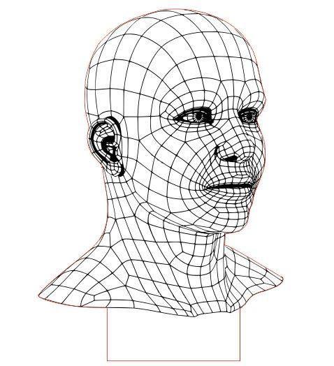 478x524 Man 3d Led Illusion Free Dxf File Download File Size 137 Kb Led
