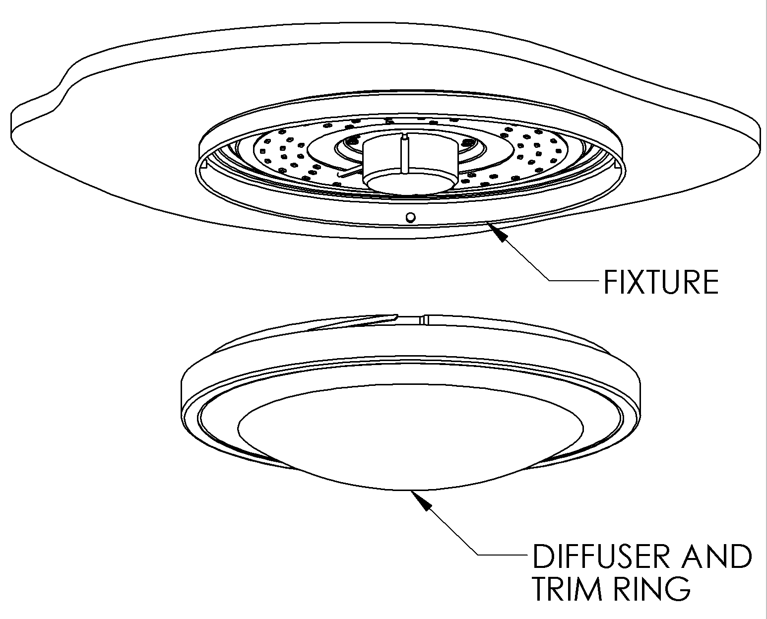 Led Light Drawing At Free For Personal Use Off Road Lights Wiring Diagram Basic 1546x1248 12 Flush Mount Ceiling W White Housing