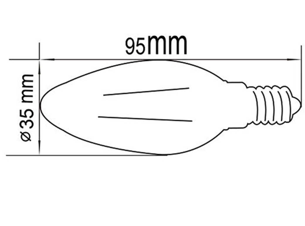 1040x770 C35 2 Watt Led Light Bulb