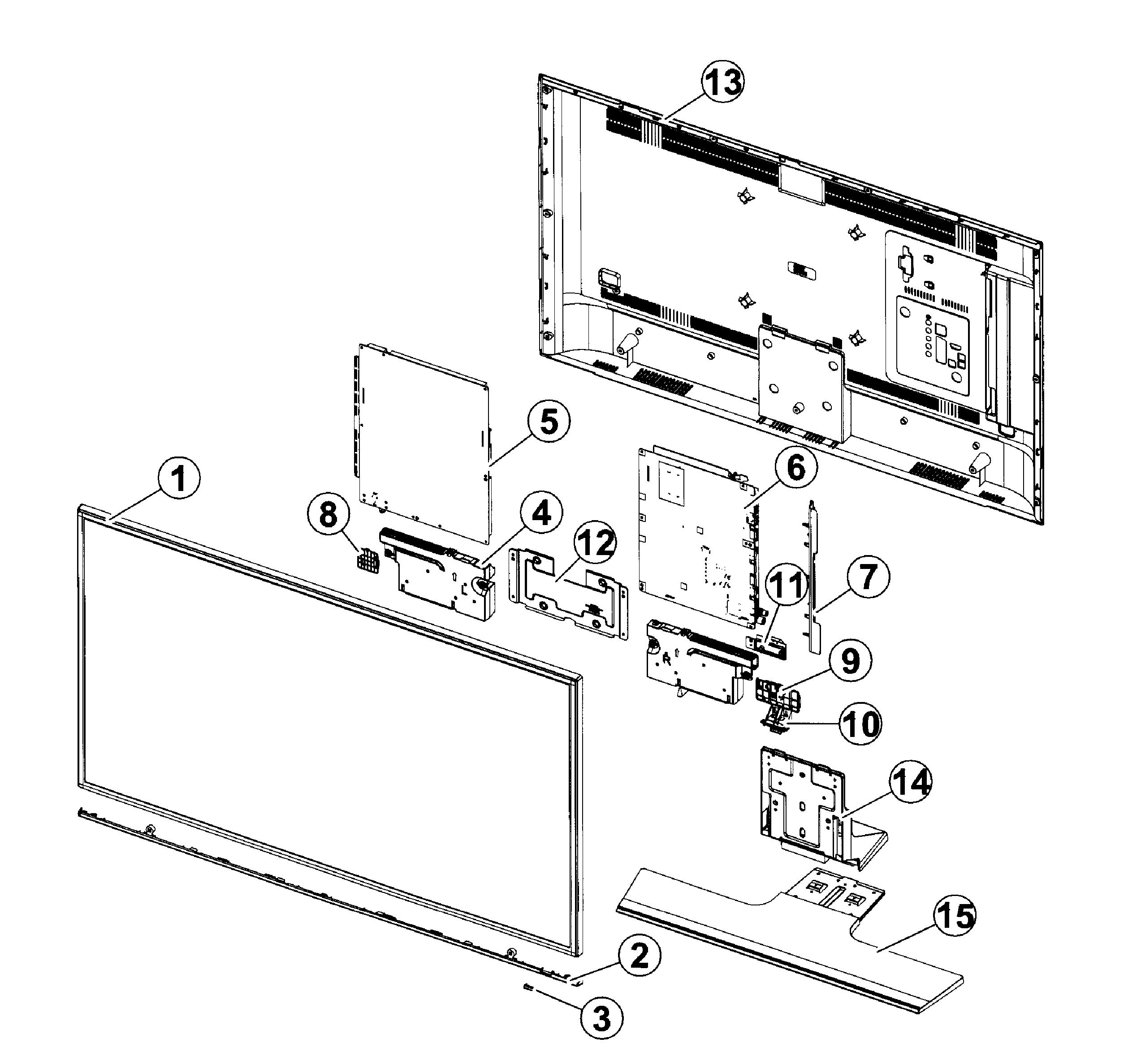 2546x2375 Samsung Led Tv Parts Model Un40hu6950fxza Ts01 Sears Partsdirect