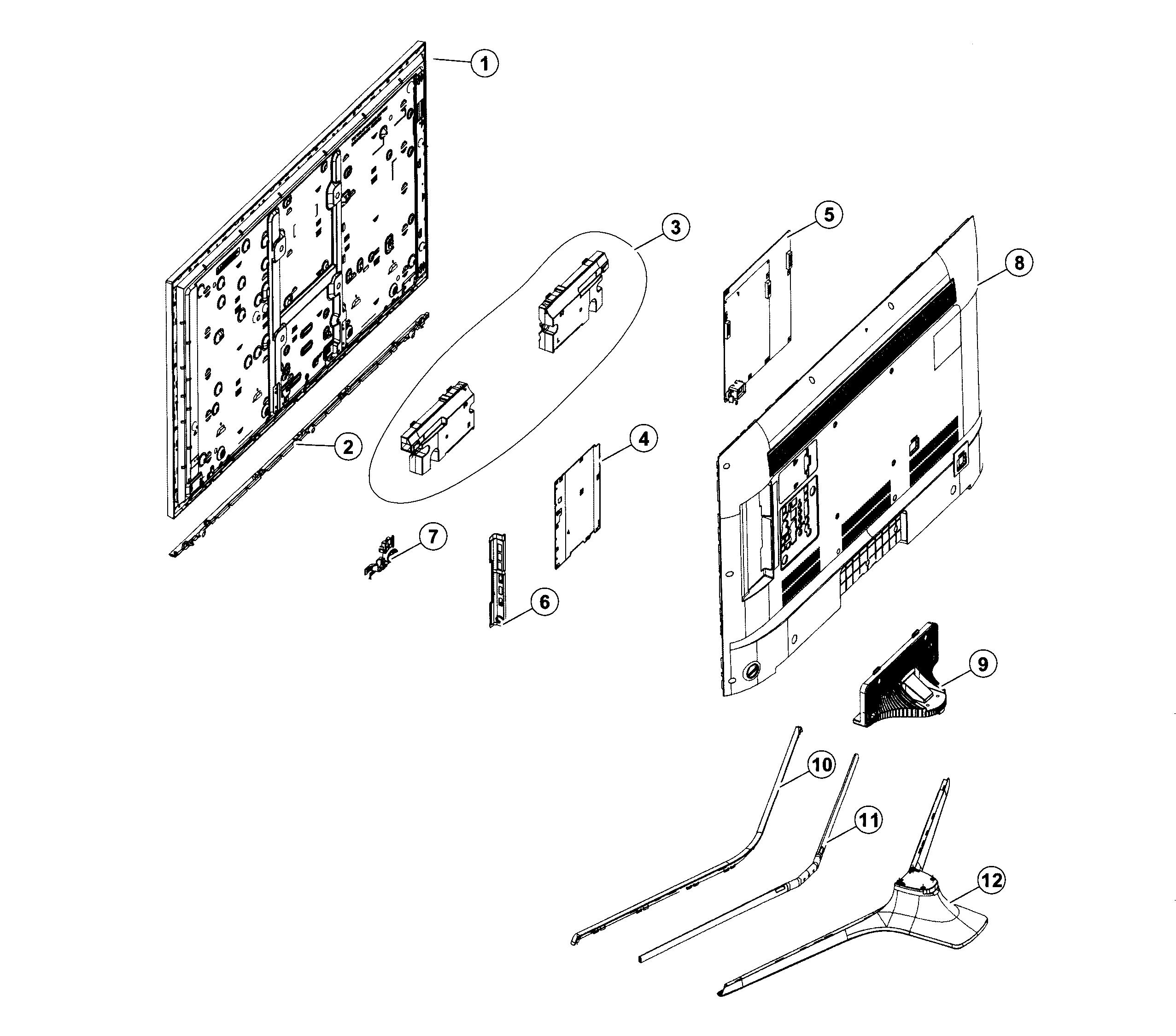 2553x2248 Samsung Led Tv Parts Model Un50j6300afxzadh01 Sears Partsdirect