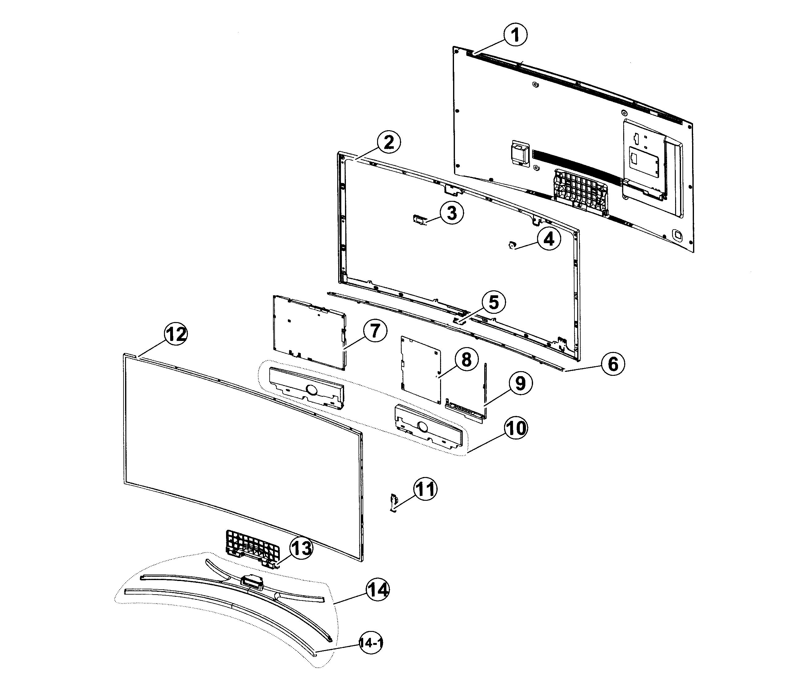 2545x2246 Samsung Led Tv Parts Model Un55h8000afxza Ts02 Sears Partsdirect