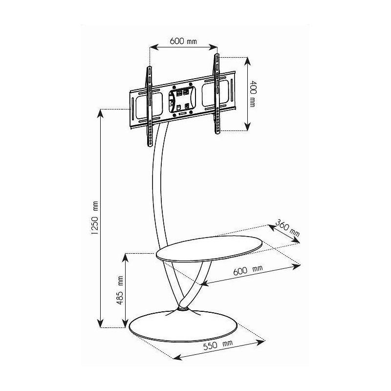 800x800 Techly Floor Stand For Tv Lcdledplasma 32'' 70'' 68kg Vesa