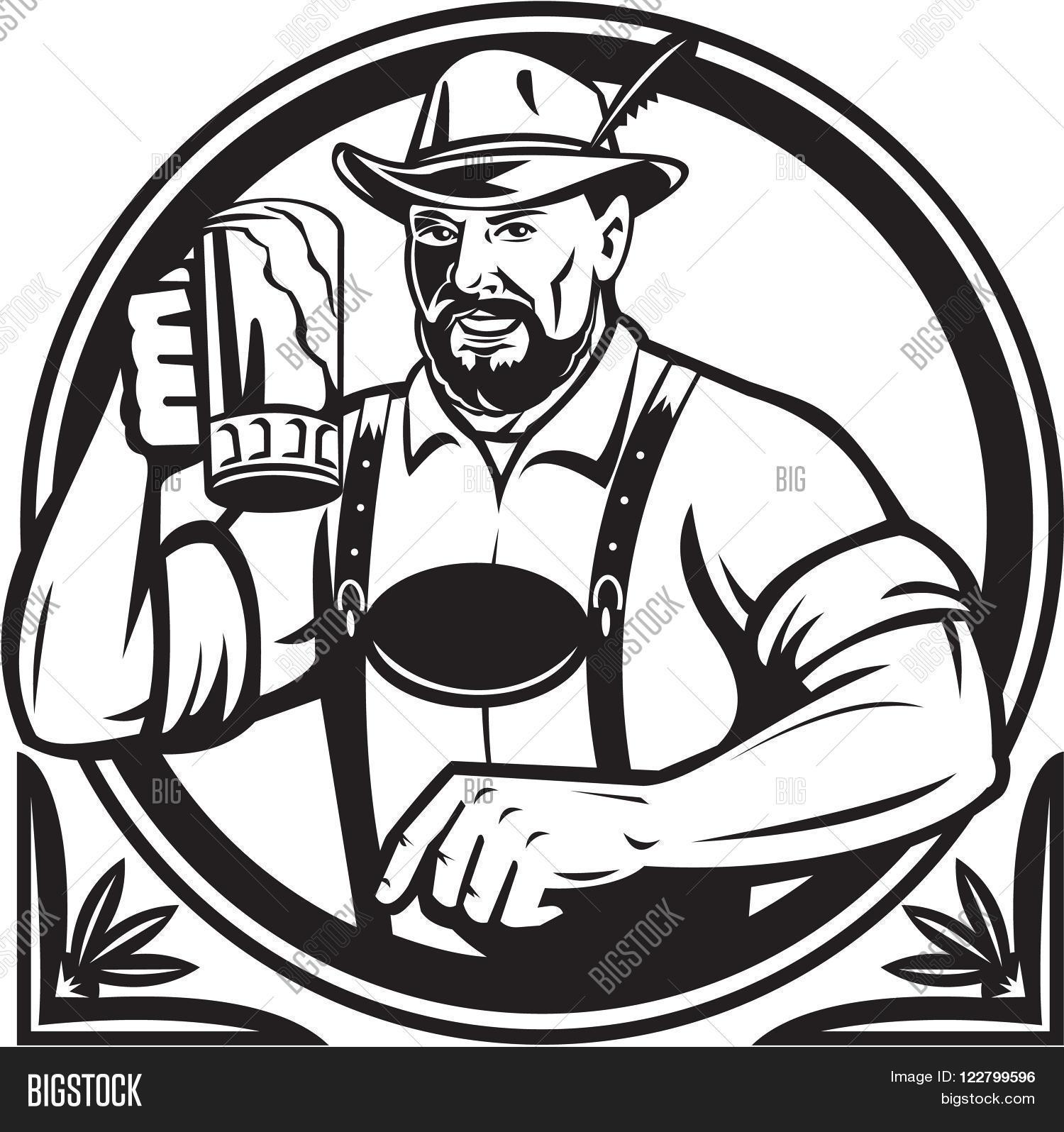 1500x1596 Black White Illustration German Image Amp Photo Bigstock