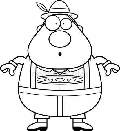 414x450 Cartoon Lederhosen Man Surprised Stock Vector Cthoman