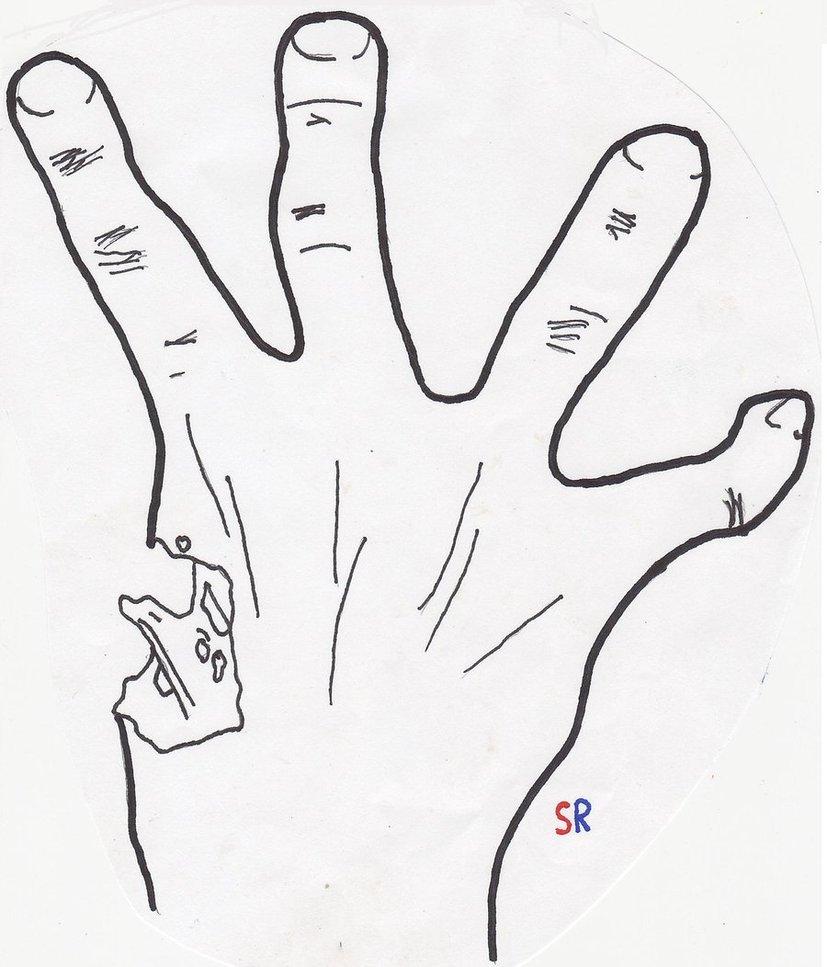827x967 Left 4 Dead Hand By Steve Rocks