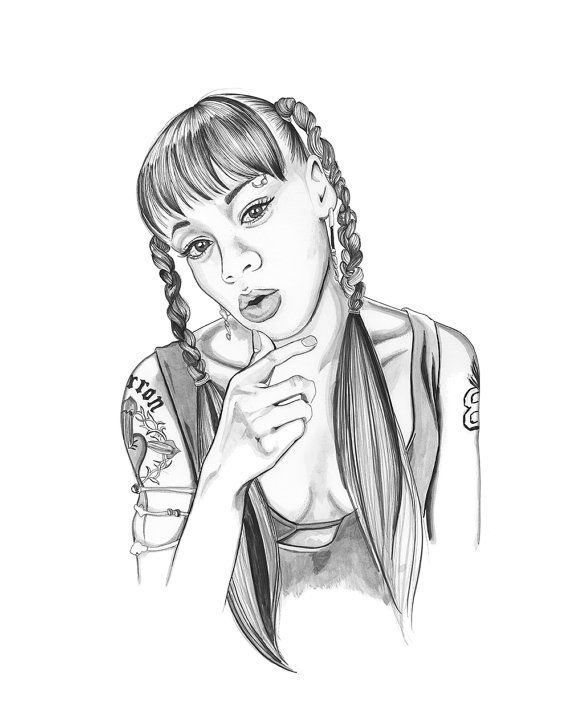 Left Eye Drawing