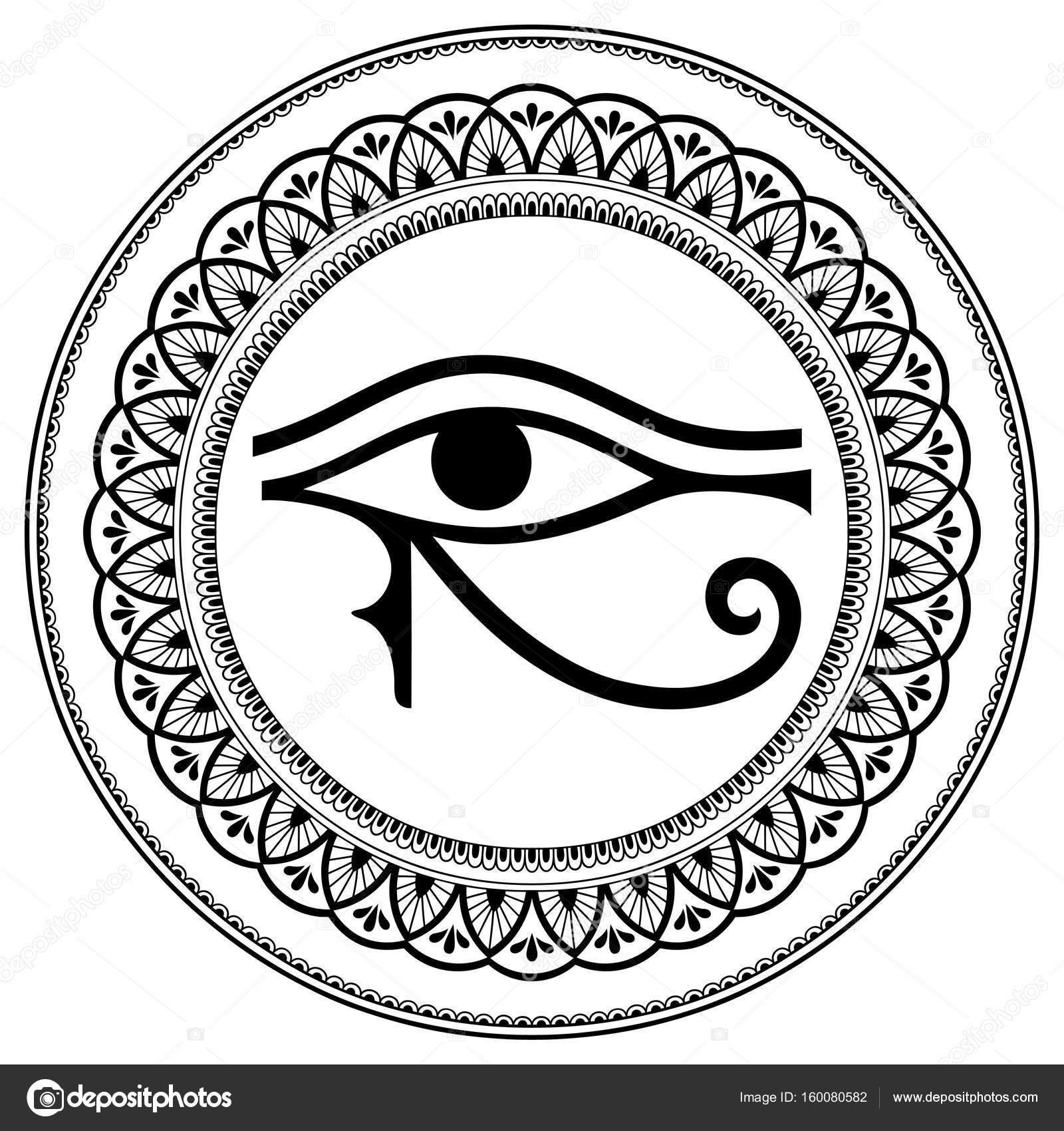 1600x1700 Pattern In The Form Of Mandala. The Ancient Symbol Eye Of Horus