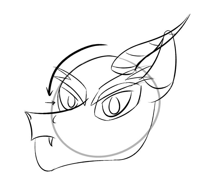 895x758 How To Draw A Draconequus [Part 1 The Head] Equestria Amino