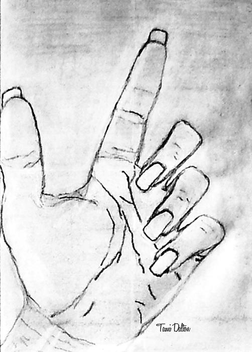 502x700 Pencil Drawing My Left Hand From Sketchpad. Before I Started