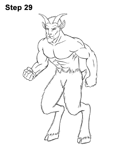 386x500 How To Draw A Faun Satyr