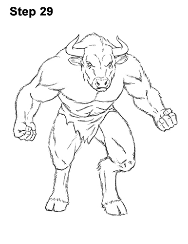 386x500 How To Draw A Minotaur