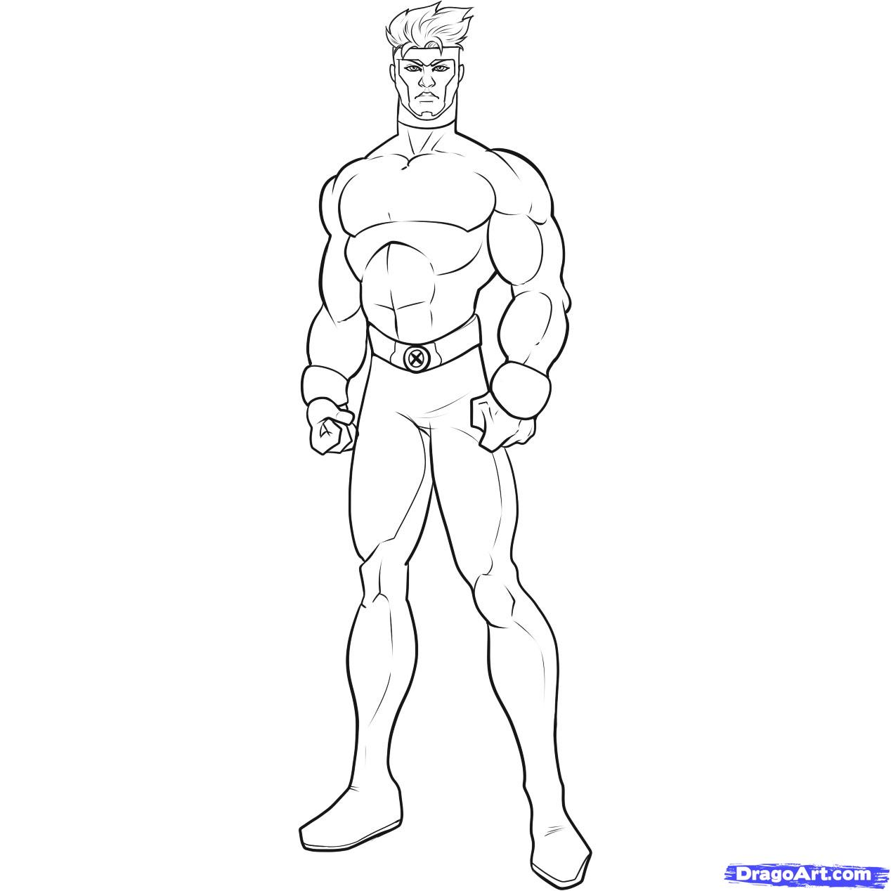 1268x1268 How To Draw Havok, Step By Step, Marvel Characters, Draw Marvel