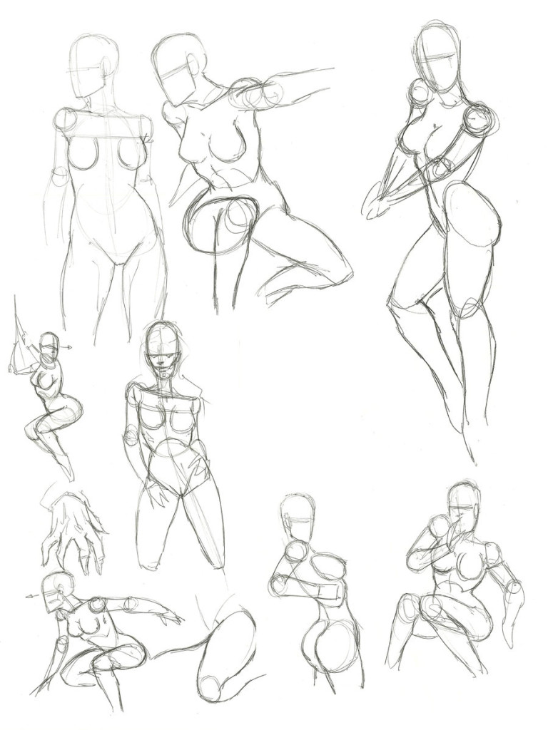 768x1024 How To Draw A Female And Womans Anatomy Muscles Form Sletching 12