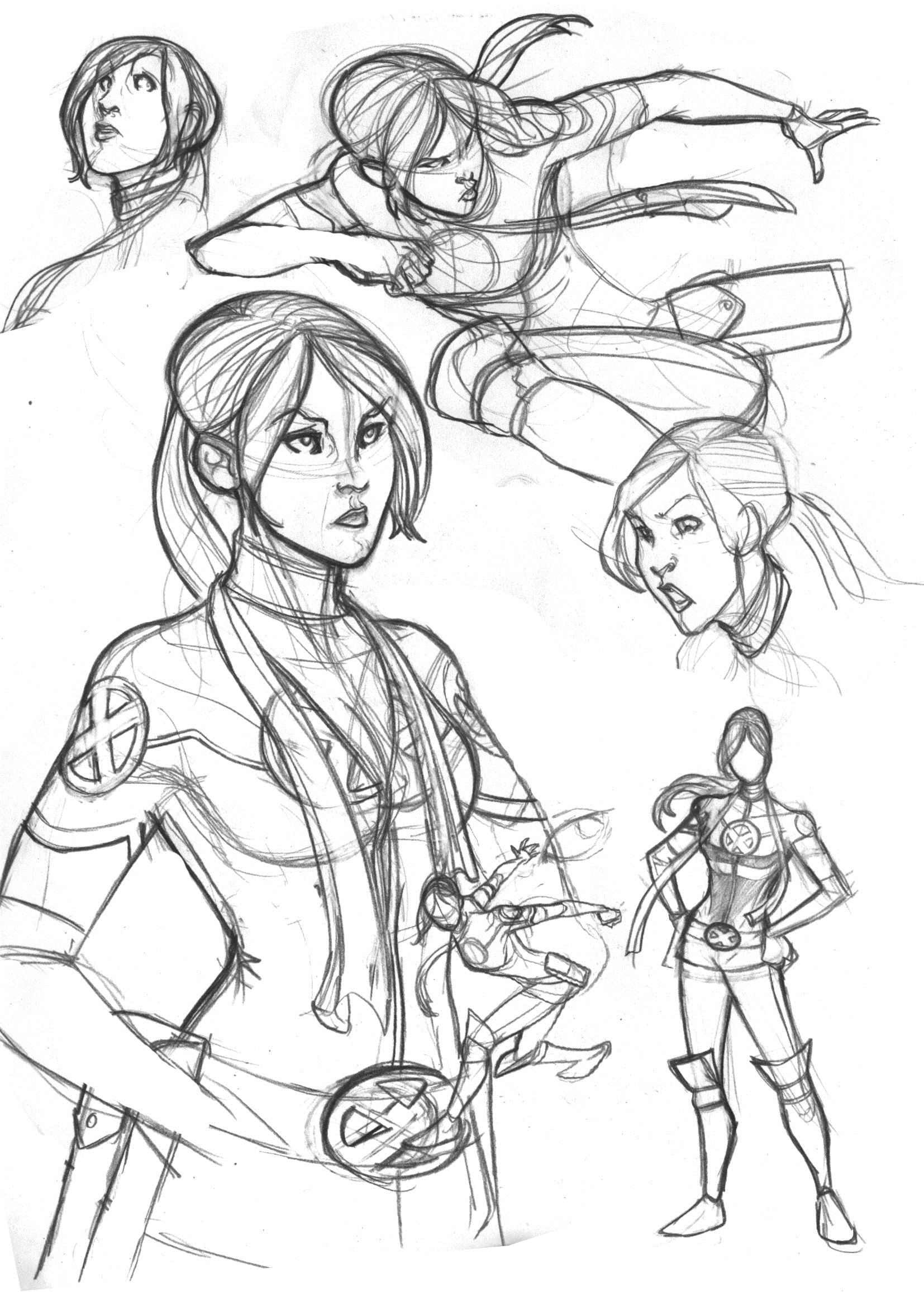 1654x2339 Rogue Sketches From X Men Legacy Marvel Sketchbook