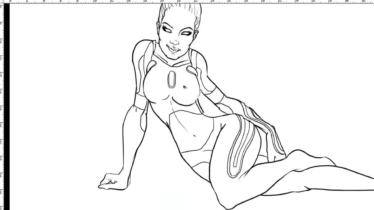 1280x720 Tron Legacy Gem Sketch (Speed Draw)