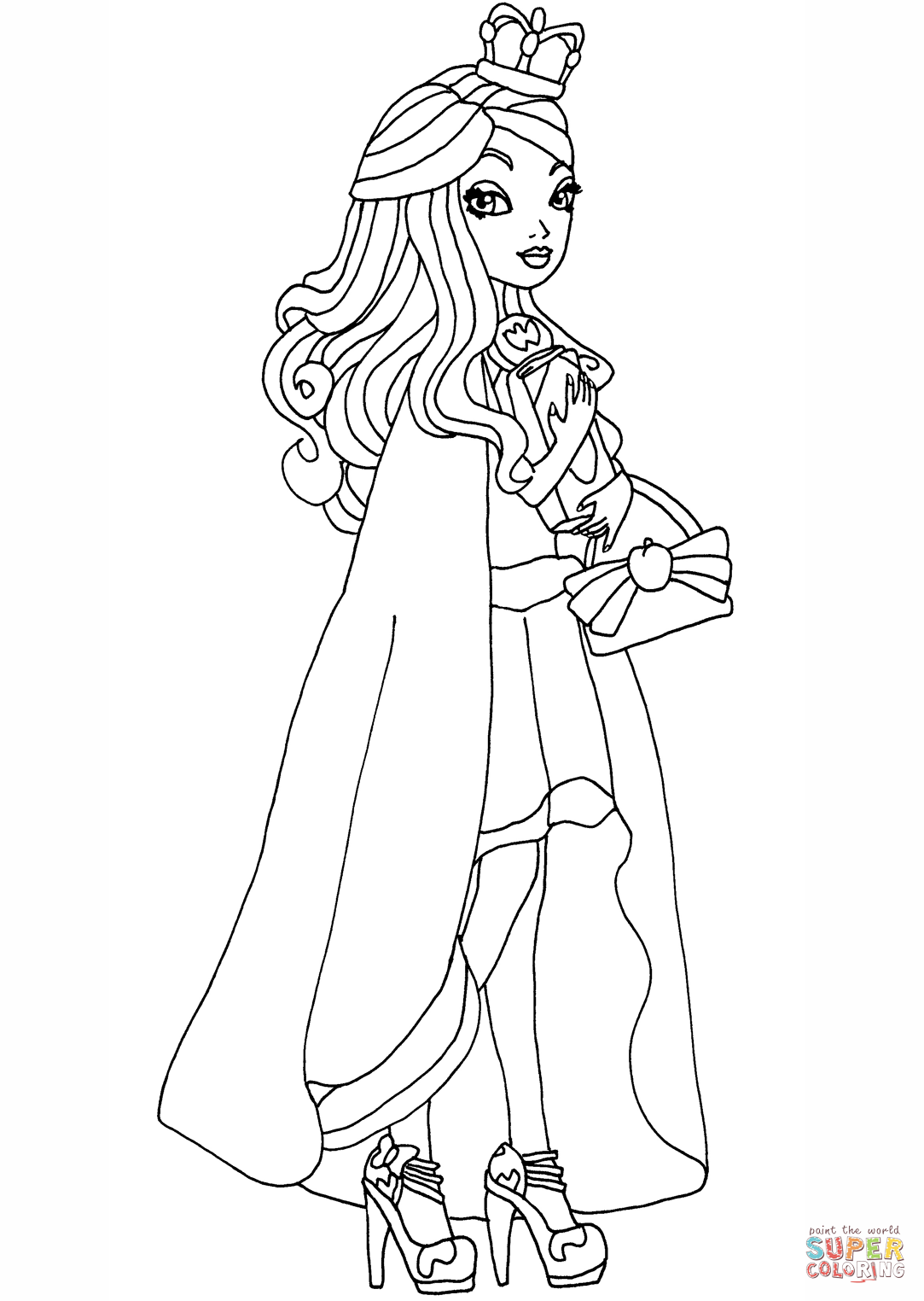 1083x1524 Ever After High Legacy Day Apple Coloring Page Free Printable