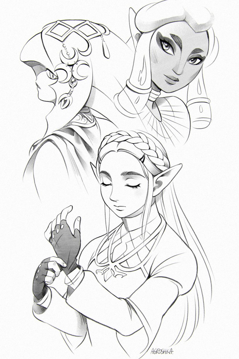 Legend Of Zelda Drawing