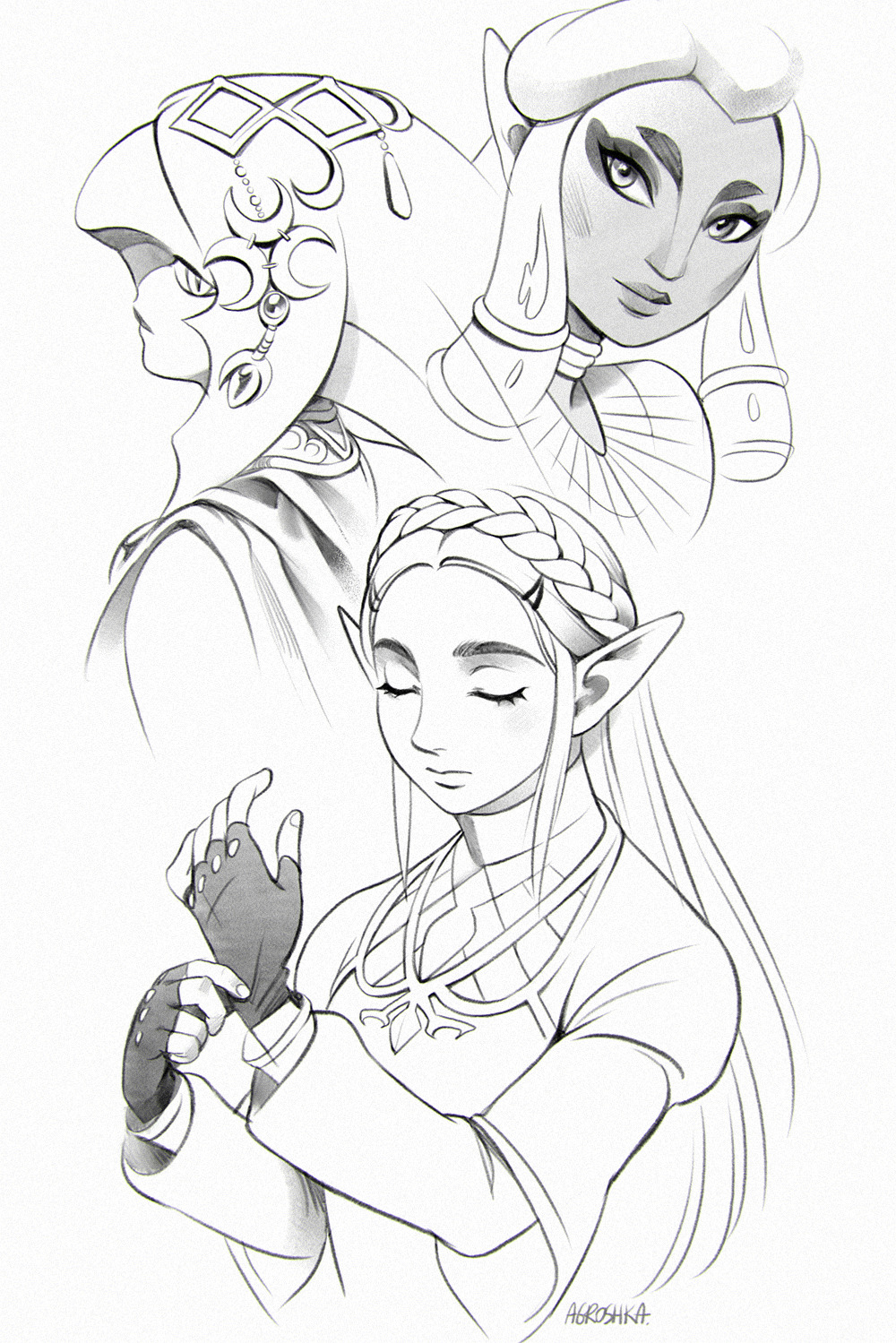 1000x1499 Art By Agroshka The Legend Of Zelda Breath Of The Wild