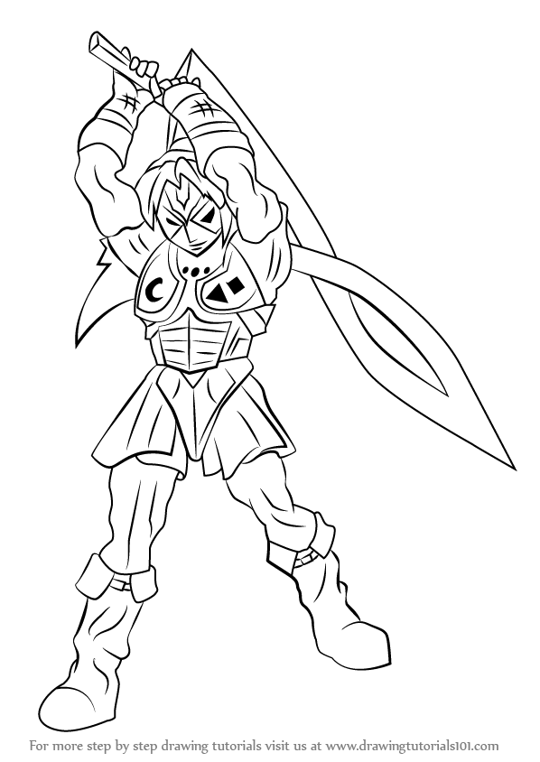 598x844 Learn How To Draw Fierce Deity From The Legend Of Zelda (The