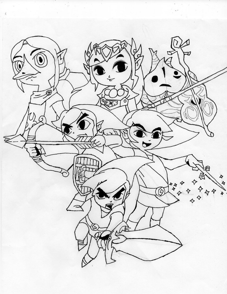 785x1017 Legend Of Zelda Wind Waker Drawing D By Chaoticblades212