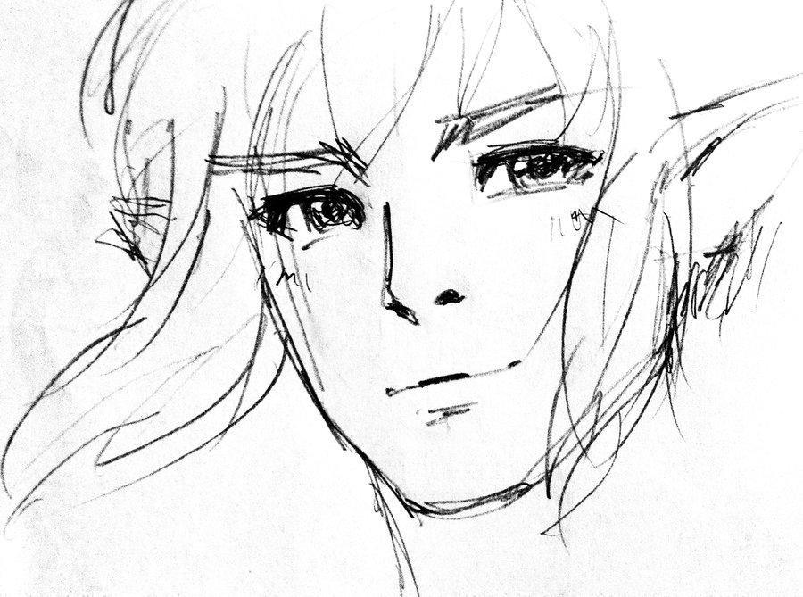 900x669 Legend Of Zelda Breath Of The Wild Link Sketch By Janlancer