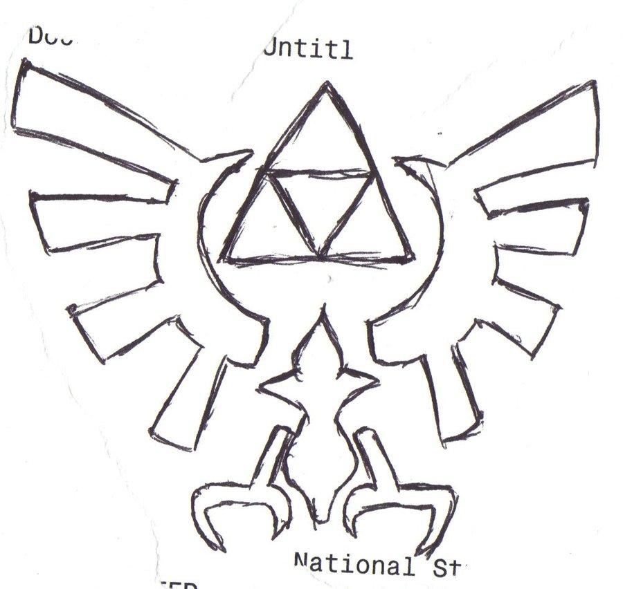 900x852 Legend Of Zelda Eagle Symbol By Umbrellaemployee00