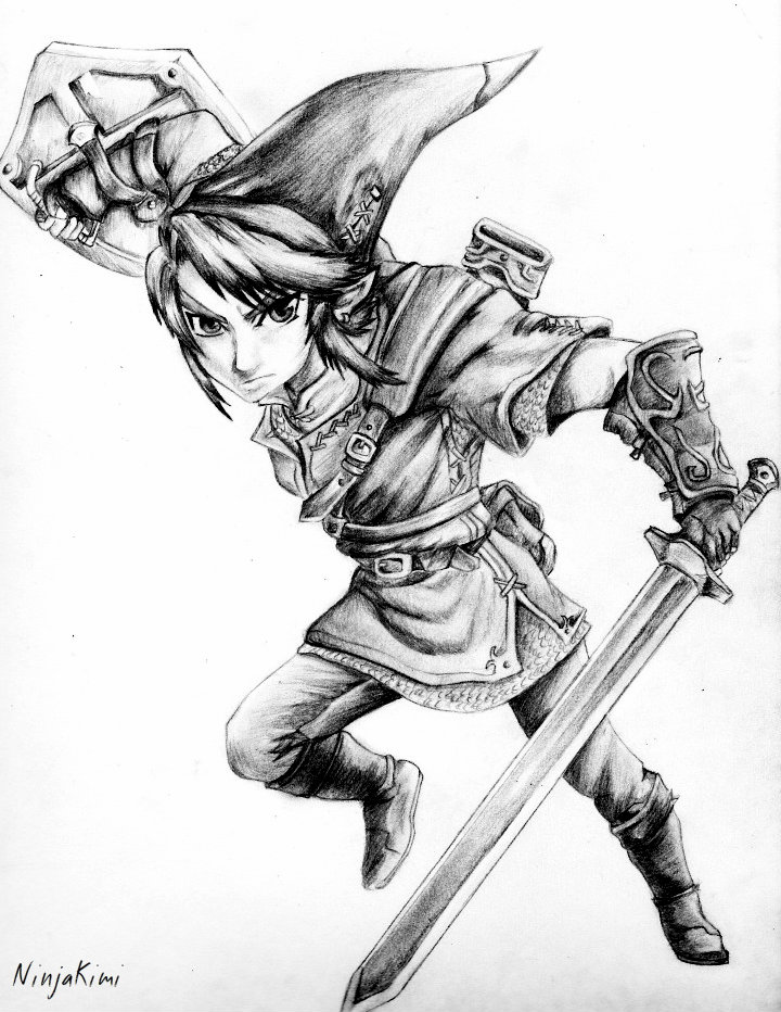 Legend Of Zelda Drawing At Getdrawings Com Free For