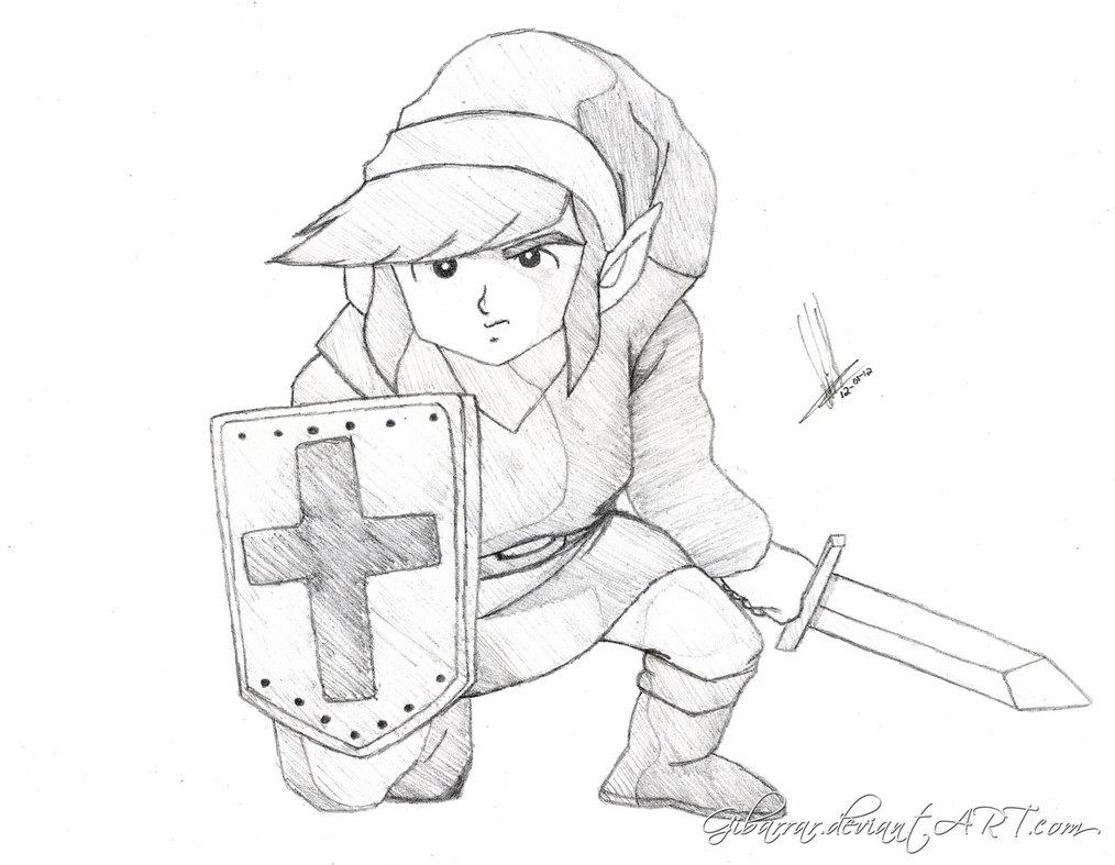 1014x787 Link Kneeling The Legend Of Zelda By Gibarrar