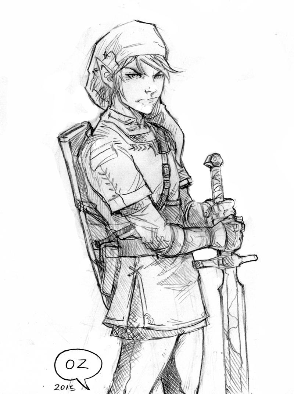 800x1073 The Legend Of Zelda (Link) Sketch By Ozartwork