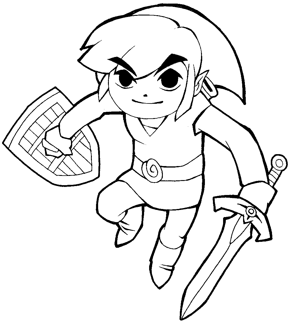 969x1080 How To Draw Link From Legend Of Zelda In Cartoonized Style How