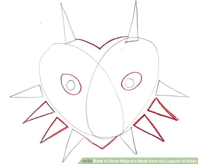 676x559 How To Draw Majora's Mask From The Legend Of Zelda 8 Steps