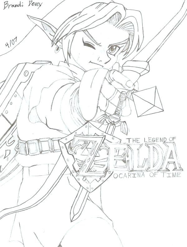 Legend Of Zelda Link Drawing at GetDrawings.com | Free for personal ...