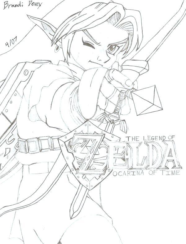 Legend Of Zelda Link Drawing At Getdrawings Free Download