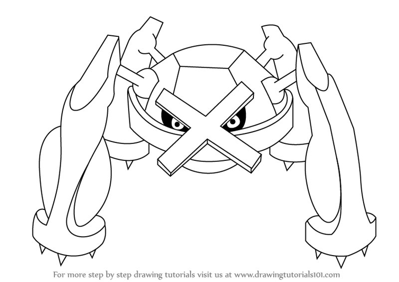 800x566 step by step how to draw metagross from pokemon