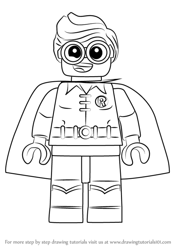 567x800 Learn How To Draw Robin From The Lego Batman Movie