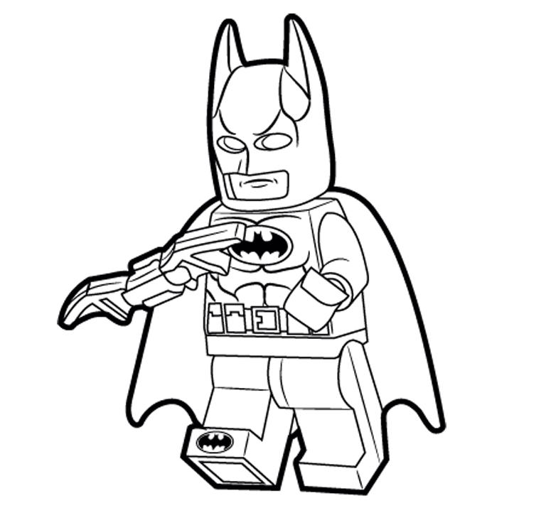 761x715 Batman Free Coloring Pages