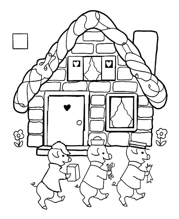 600x734 Brick Coloring Page Craft Illustrations For Preschool Programs