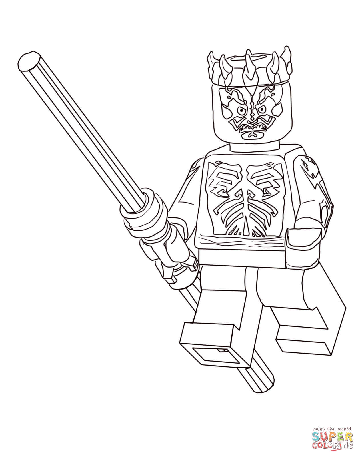 1260x1600 Lego Star Wars Darth Maul Coloring Page Free Printable Coloring