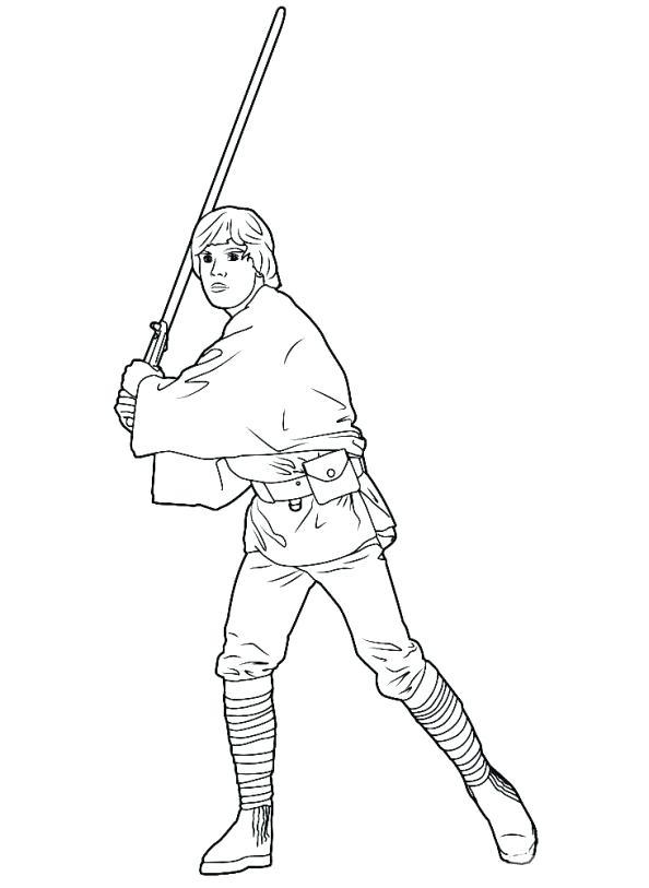 594x813 Luke Skywalker Coloring Pages Pin Drawing Darth Vader Luk
