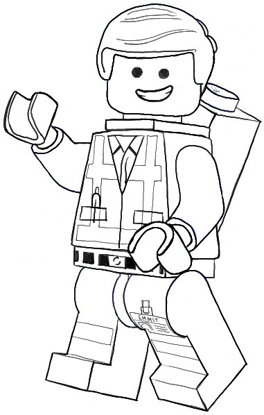 381x598 How To Draw Emmet From The Lego Movie And Lego Minifigures Drawing