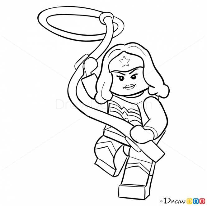 665x664 How To Draw Wonder Woman, Lego Super Heroes My Wonder Woman
