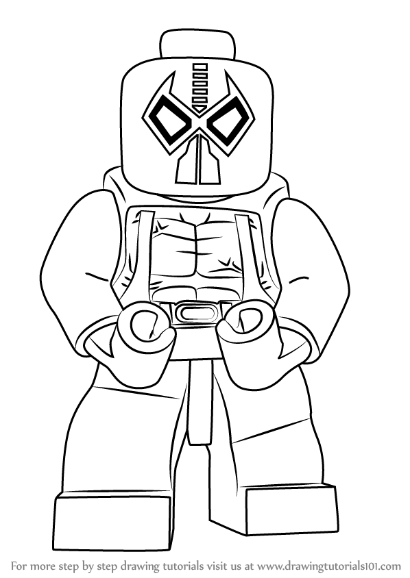 598x844 Learn How To Draw Lego Bane (Lego) Step By Step Drawing Tutorials