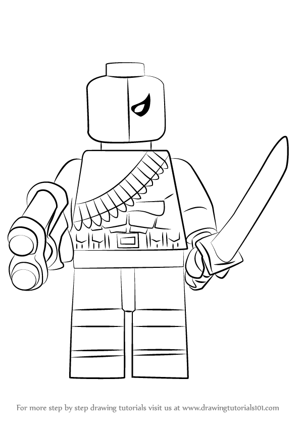 596x843 Learn How To Draw Lego Deathstroke Step By Drawing